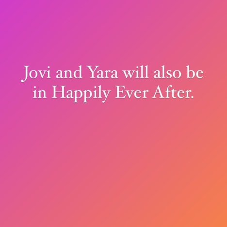 """""""Jovi and Yara will also be on Happily Ever After"""" IG - Frauded"""