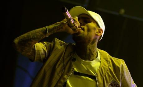 Chris Brown, Angry on Stage
