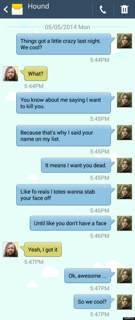 Game of Thrones Text: The Hound