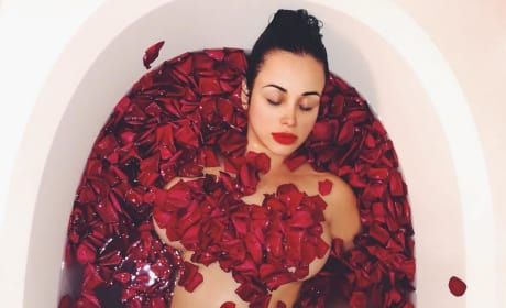 Paola Mayfield in a Rose Petal Bath