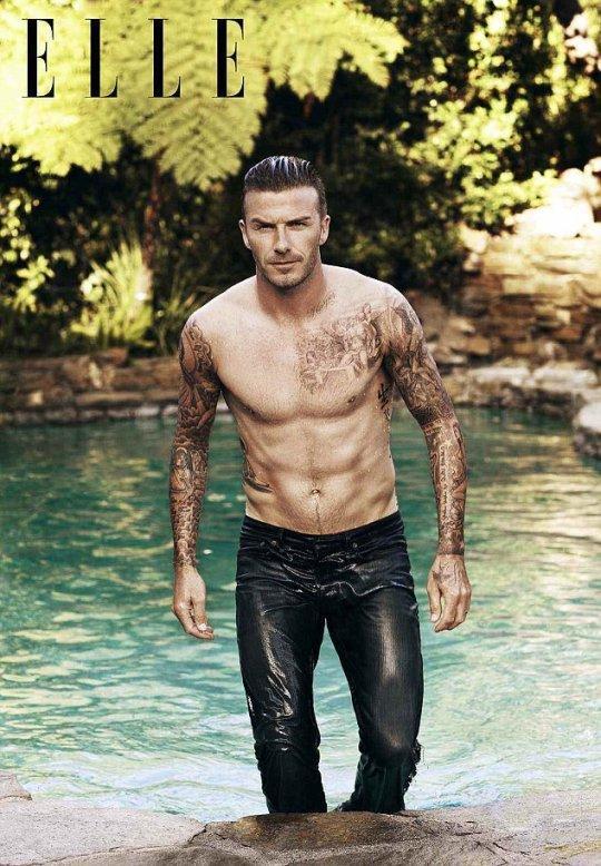 David Beckham Shirtless Photo