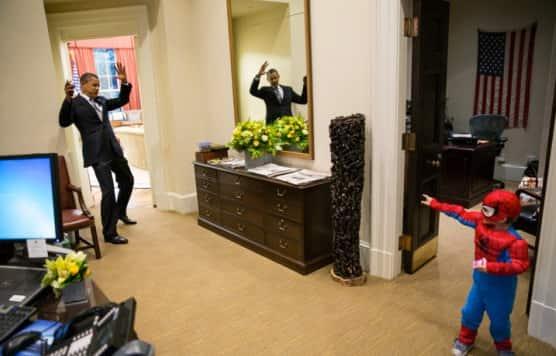 Obama, Spider-Man Pic