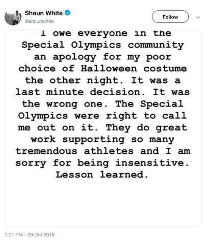 white apology
