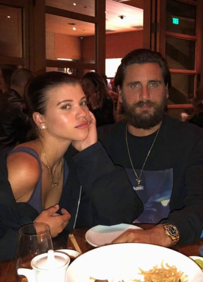 Sofia Richie and Scott Disick Look Sad