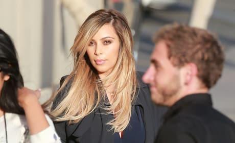 Kim Kardashian and a Stroller