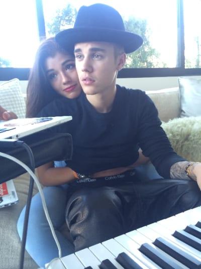 Yovanna Ventura with Justin Bieber