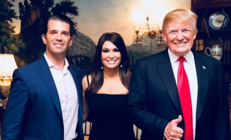 Donald Trump Jr, Kimberly Guilfoyle, and Donald Trump
