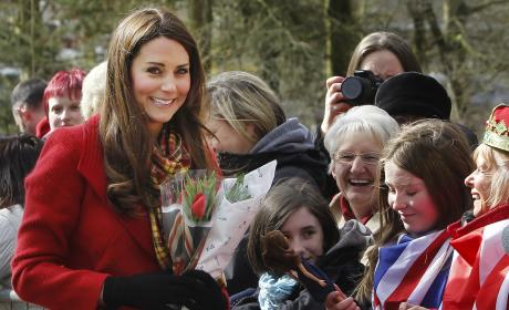 Kate Middleton Red Coat