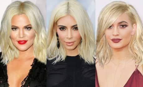 Kim Kardashian and Kompany: See Their Kraziest Hairstyles!