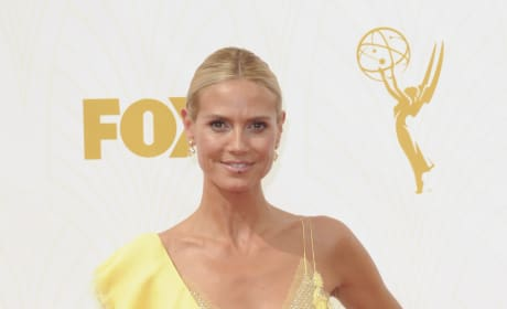 Heidi Klum at the 2015 Emmys