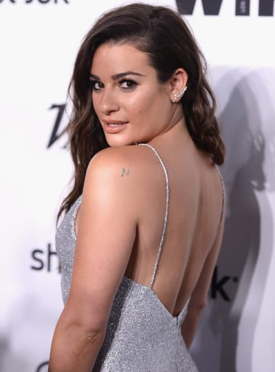 Lea Michele on a Red Carpet