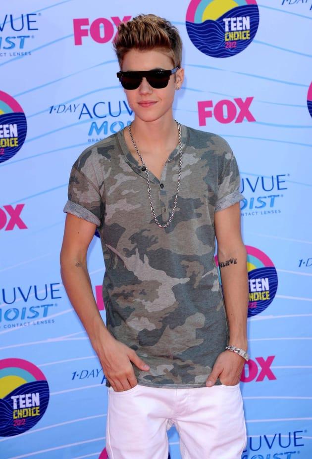 Justin Bieber at Teen Choice Awards