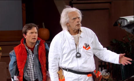 Marty McFly and Doc Brown Appear on Jimmy Kimmel Live, Are Unimpressed
