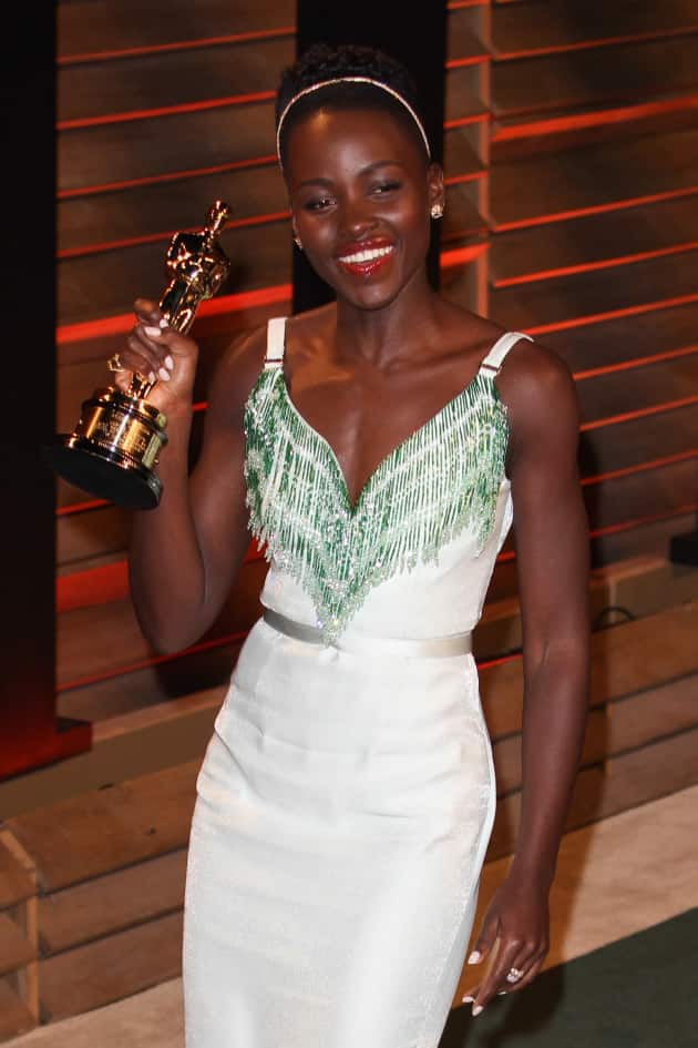Lupita Nyong'o with her Oscar