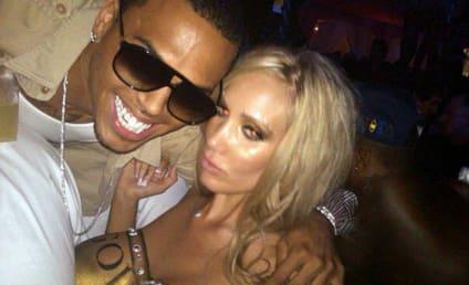 Chris Brown Creeps on Playmate
