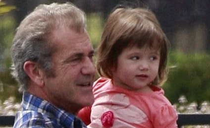 Mel Gibson Spends Father's Day With Lucia
