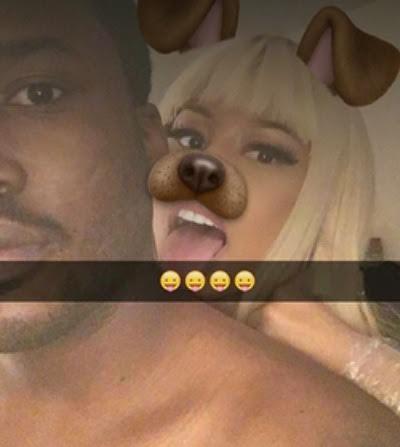 Nicki Minaj, Meek Mill on Snapchat