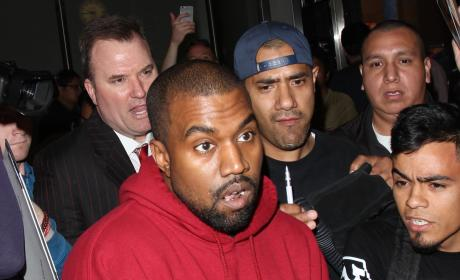 Kanye West Lands at LAX