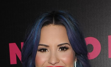 Demi Lovato with Blue Hair