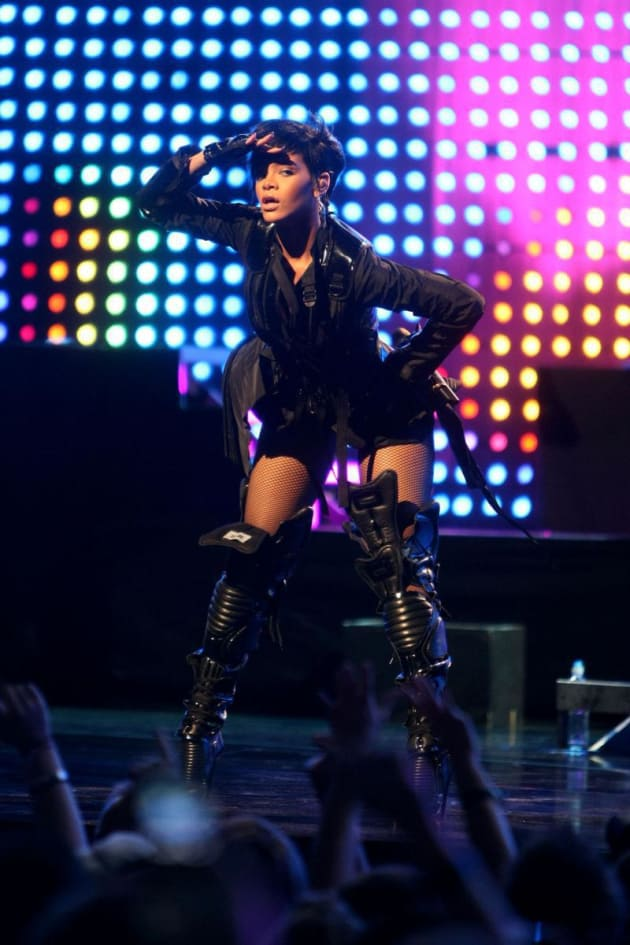 Rihanna Rocks Out In Bathing Suit And Space Boots The