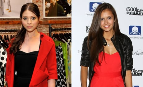 Who wears this outfit better: Michelle Trachtenberg or Nina Dobrev?
