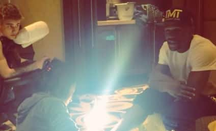 Justin Bieber and Floyd Mayweather: Pedicure and Massage Session!