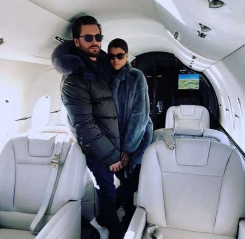 Scott Disick and Sofia Richie, Private Plane