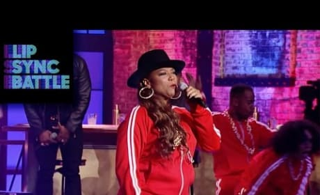Queen Latifah Lip Syncs to LL Cool J