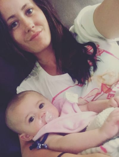 Jenelle Evans and Little Ensley Jolie