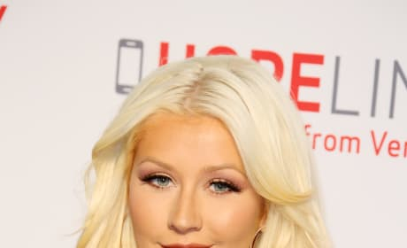 Christina Aguilera in Blue