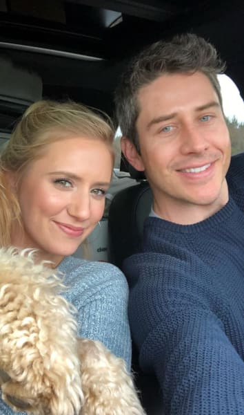 Arie and Lauren and a Dog