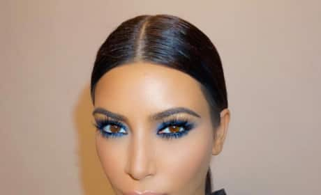 Kim Kardashian Feels Blue