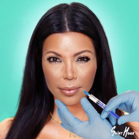 Kim Kardashian transforms into Kris Jenner video still