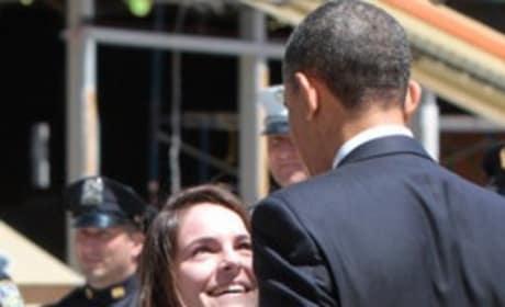 Obama and Justin Bieber Fan