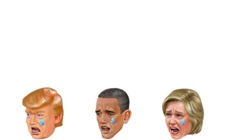 Donald Trump, Barack Obama and Hillary Clinton Kimojis