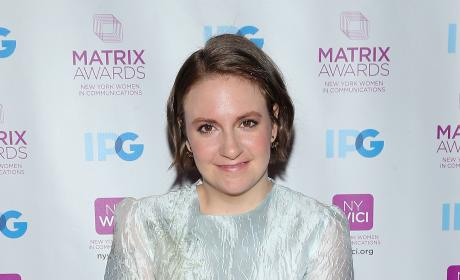 Lena Dunham at the Matrix Awards