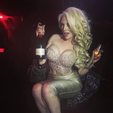 Courtney Stodden: Boobs and Champagne