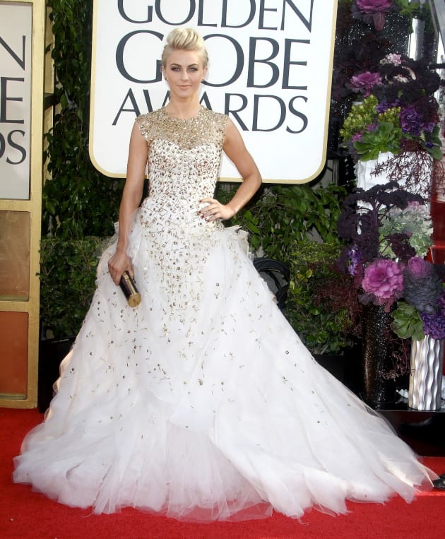 Julianne Hough at the Golden Globes