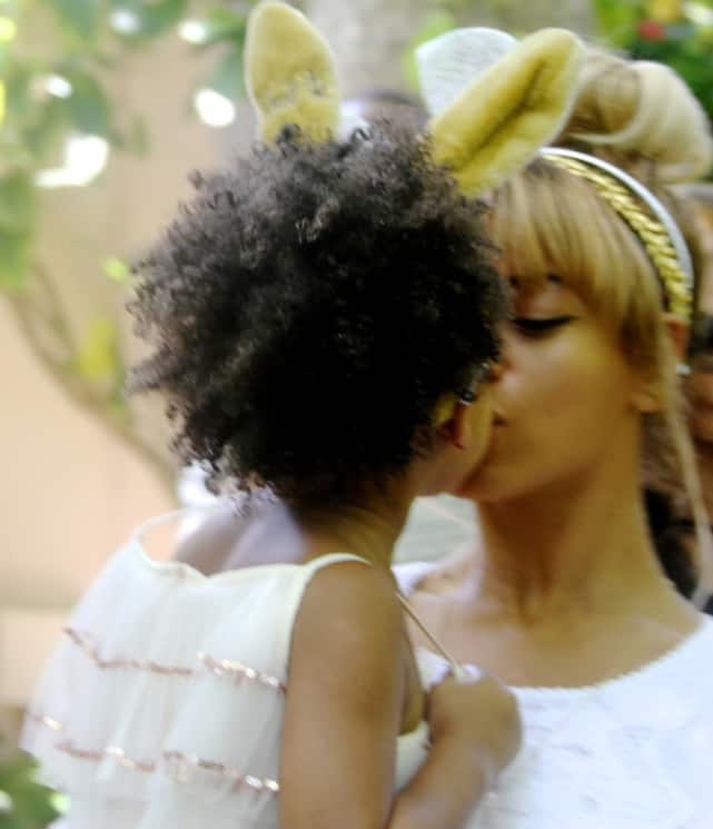 Beyonce and Blue Ivy Easter Photo