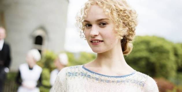 Lily James in Downton Abbey