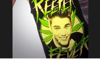 "Miley Cyrus Dons ""Reefer Fever"" Shirt, Gives Shout-Out to Justin Bieber"