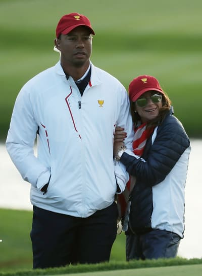 Tiger Woods, Erica Herman Looking Cozy