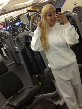 Amanda Bynes at the Gym
