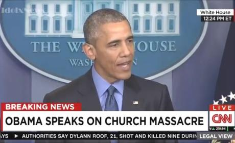 "Barack Obama Addresses ""Heartbreaking "" Charleston Shooting"
