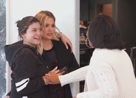 Surrogate Lorena and Kylie Jenner and Khloe Kardashian
