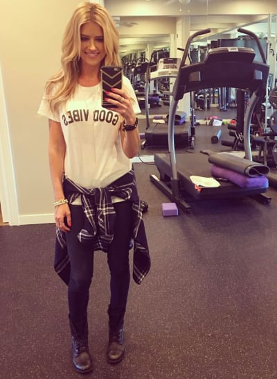 Christina El Moussa at the Gym