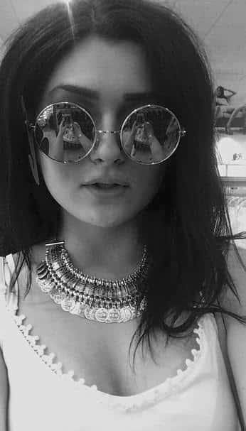 Gabrielle Rocks Kylie Glasses