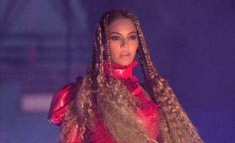 Beyonce in Red Outfit