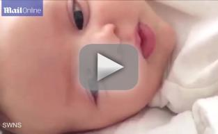 "Genius Baby Says ""Hello"" at 7 Weeks Old"