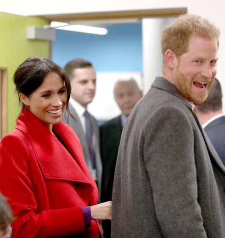 Happy Meghan Markle and Prince Harry
